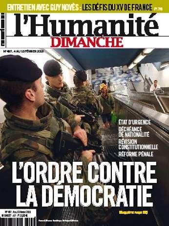 Humanite Dimanche Du 4 Au10 Fevrier 2016