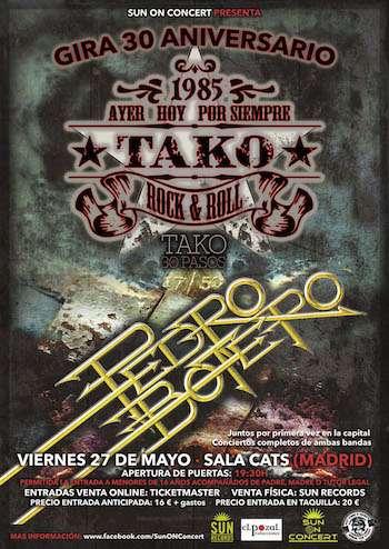 Tako + Pedro Botero Madrid cartel