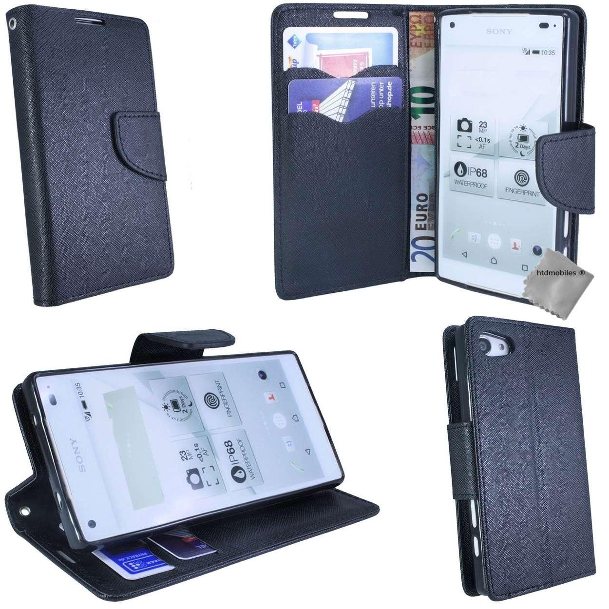 Housse-etui-coque-portefeuille-pour-Sony-Xperia-Z3-Compact-verre-trempe