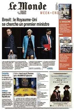 Le Monde Weekend et Suppléments du Samedi 2 Juillet 2016