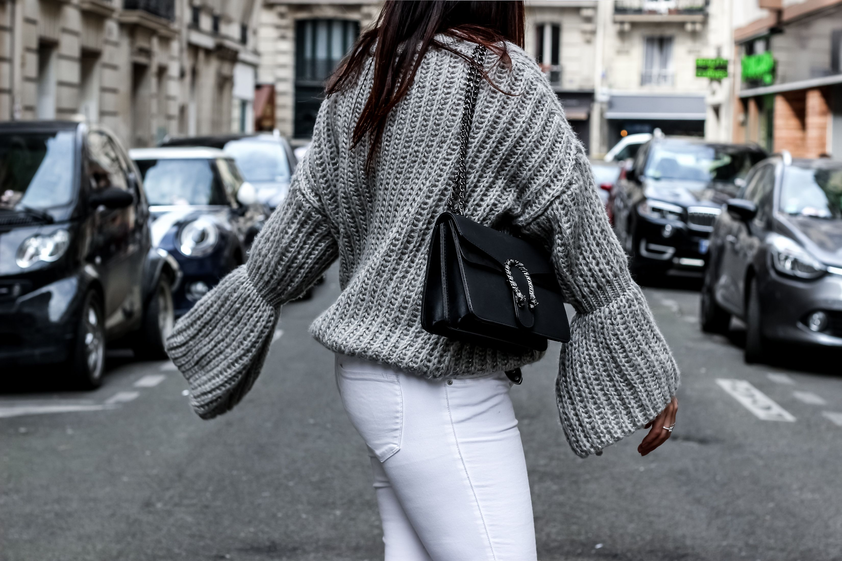 pull manches cloche, the green ananas, blog mode, sac inspiration gucci, guccii dionysus, shein, zara, pantalon blanc, elyse stella mccartney, pinterest, mode, spring