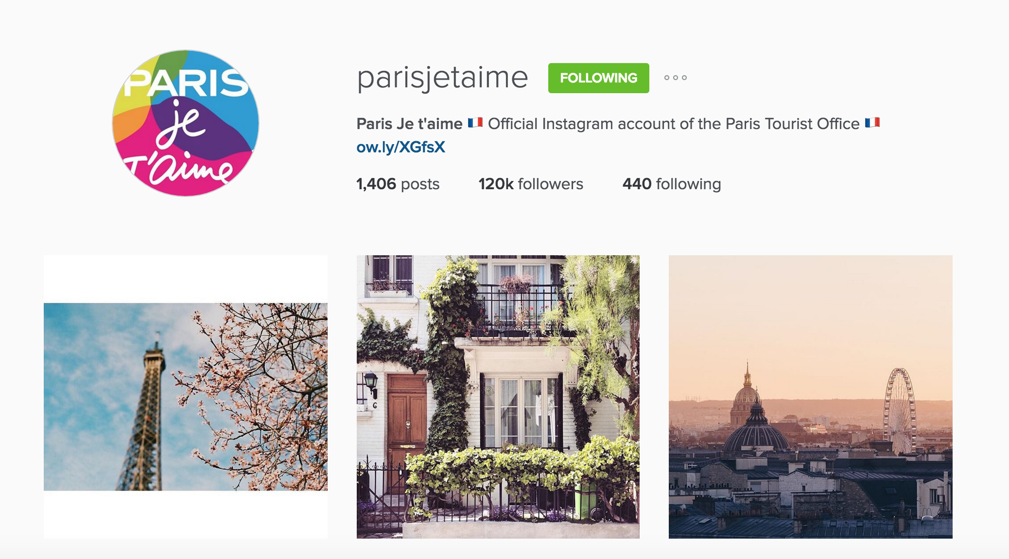 instagram cariboo paris account tourist office
