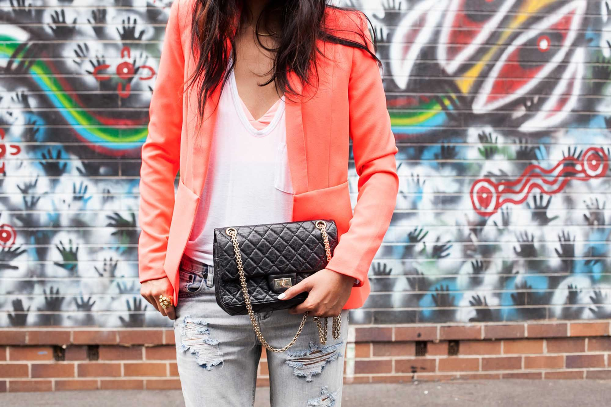 Neon Blazer Chanel bag