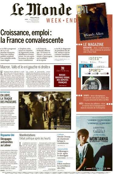 Le Monde du Samedi 30 Avril 2016
