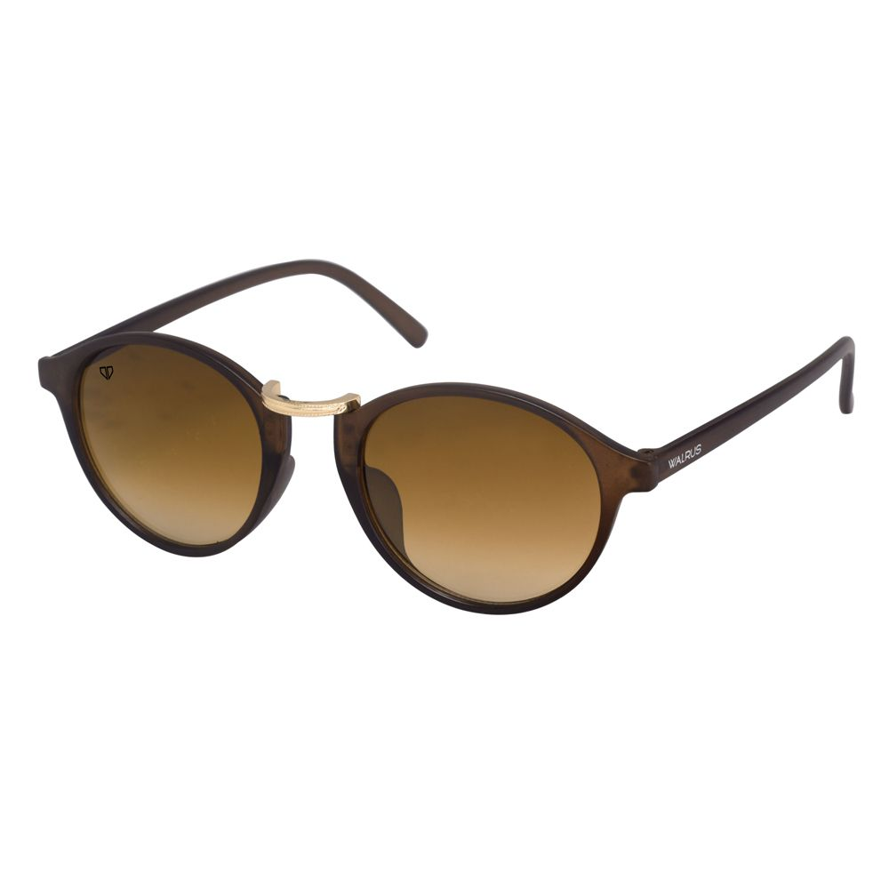 Walrus James Brown Color Unisex Oval Sunglass - WS-JAMES-II-090906