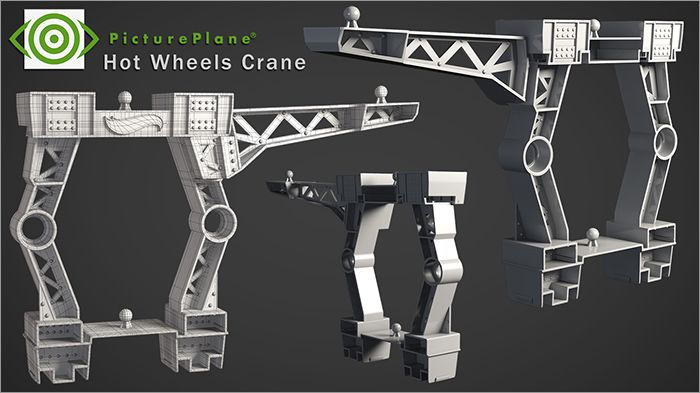 Hot Wheels Crane Wireframe