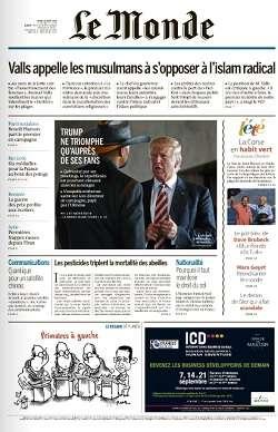 Le Monde du Jeudi 18 Août 2016