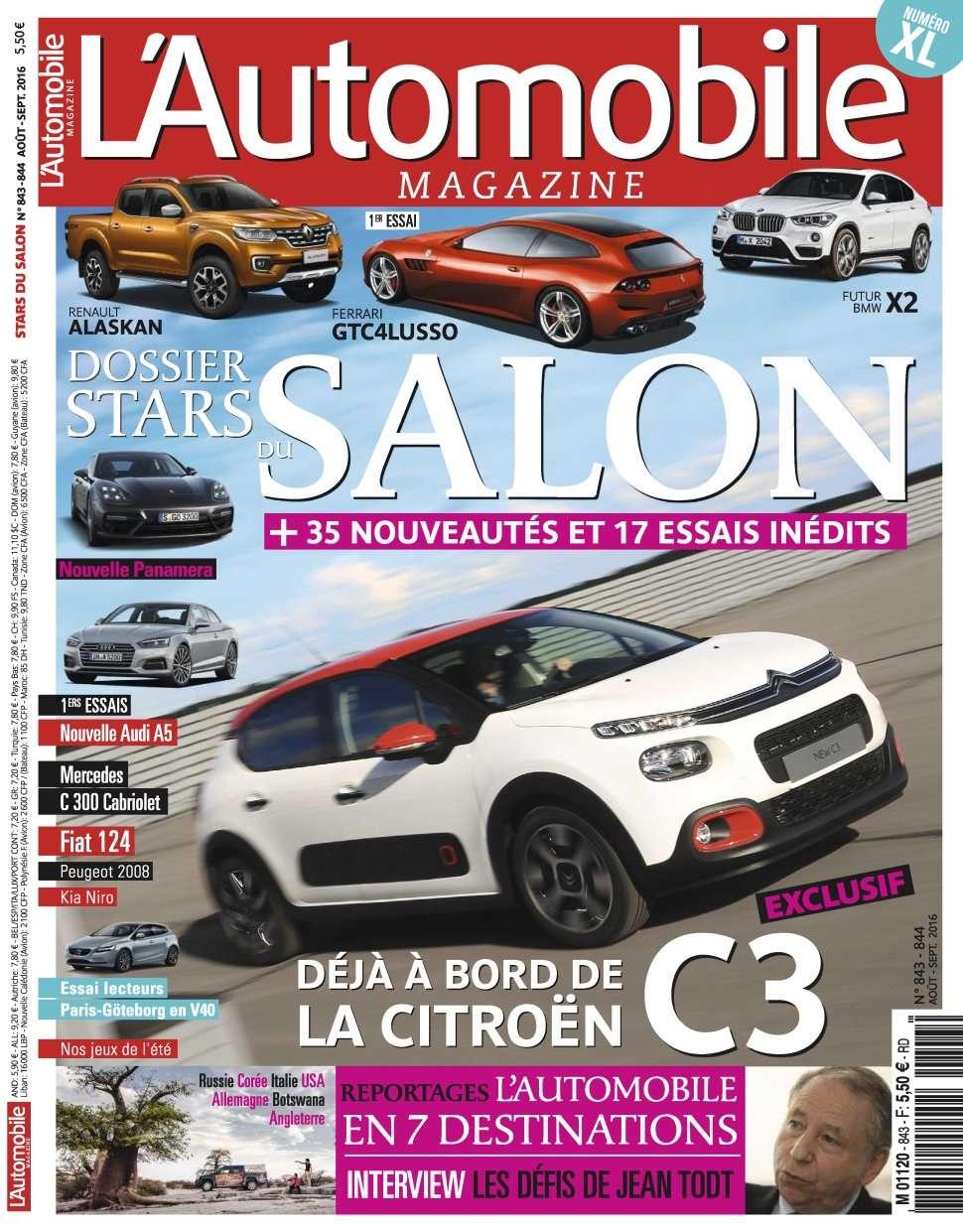 L'Automobile magazine 844 - Aout 2016