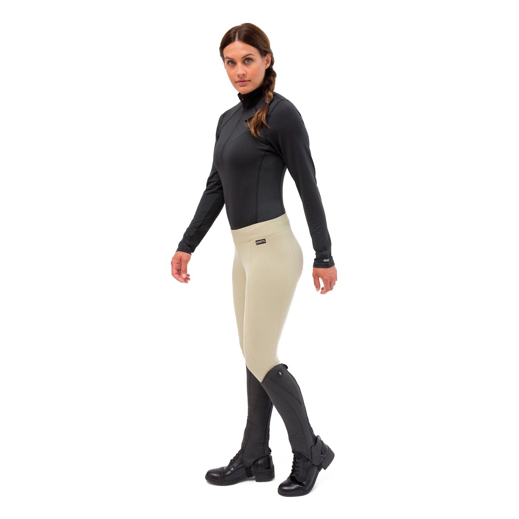 Kerrits Women/'s Performance Riding Tights Flow Rise with No Roll Waistband