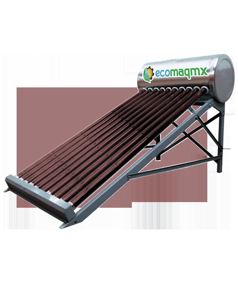 Calentador Solar Ecomaqmx 135L P/Tinaco 3 Personas 10 Tubos
