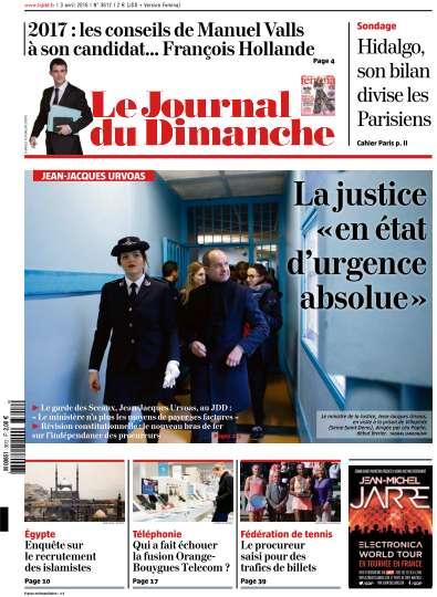 Le Journal du Dimanche - 3 Avril 2016