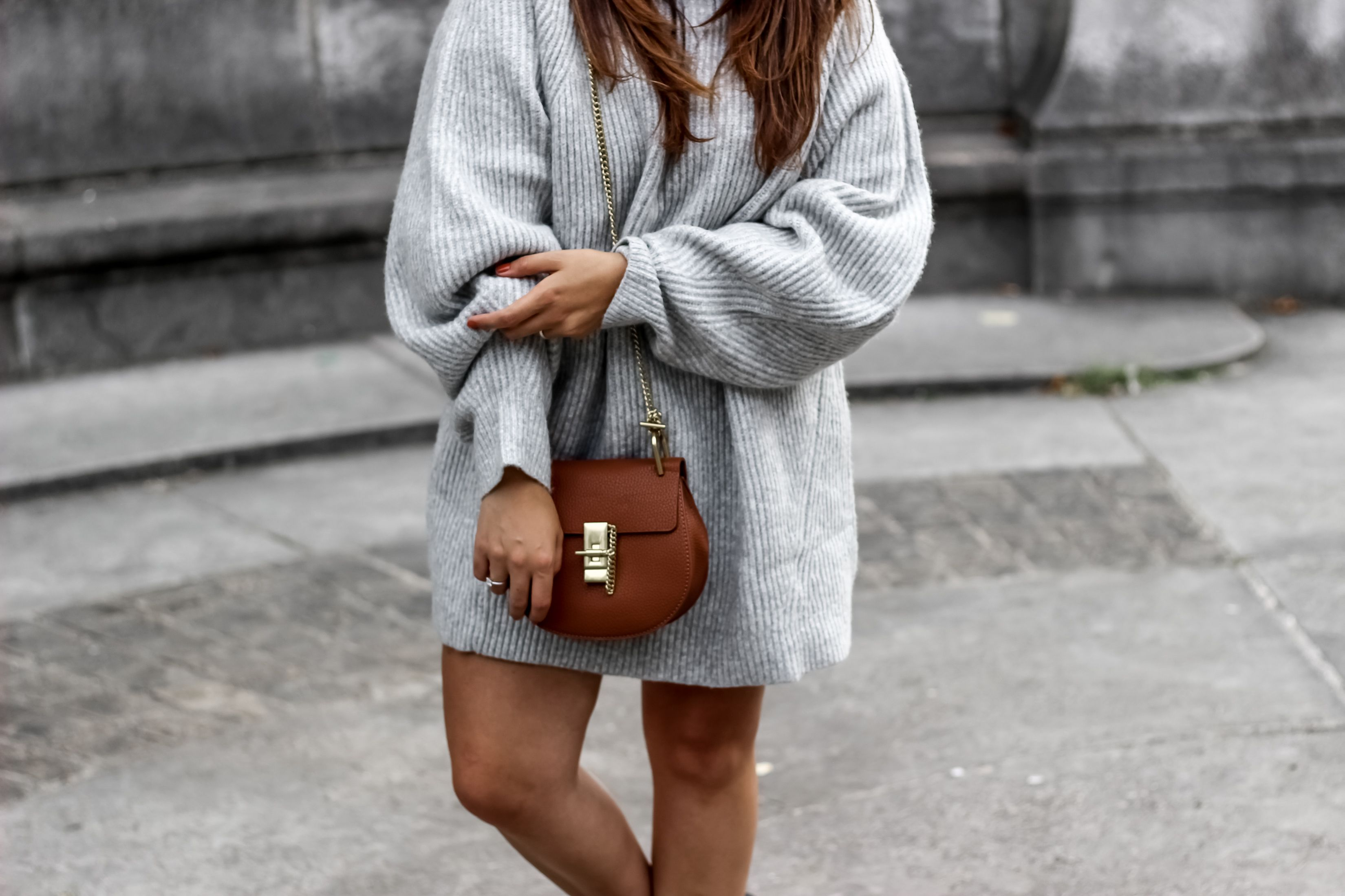 blog mode, blogueuse mode, the green ananas, shein, hm, boots cloutés femme, boots boucles femme, boots femme, pull hm, pull losse , pull acne, sac chloé, drew chloé, knitwear, pull oversize