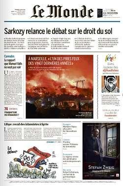 Le Monde du Vendredi 12 Août 2016