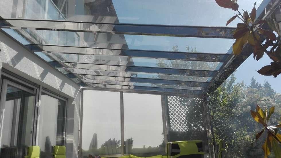 Terrassenüberdachung Edelstahl Glas