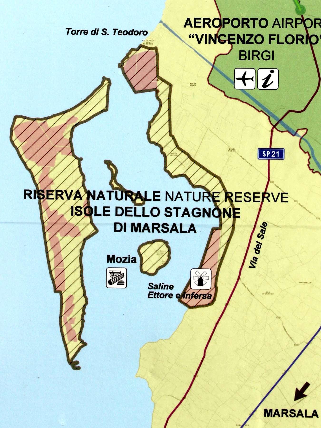 Sicily Stagnone Lagoon Mozia Nature Reserve