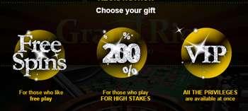 Grandrio 200% bonus 2016