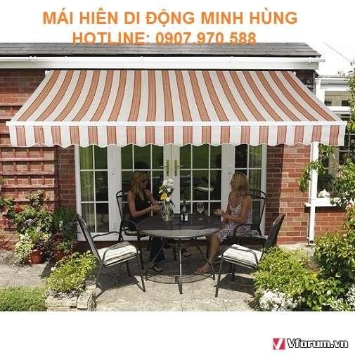 Chỗ làm mái hiên di động huyện Hóc Môn, Nhà Bè che nắng giá tốt