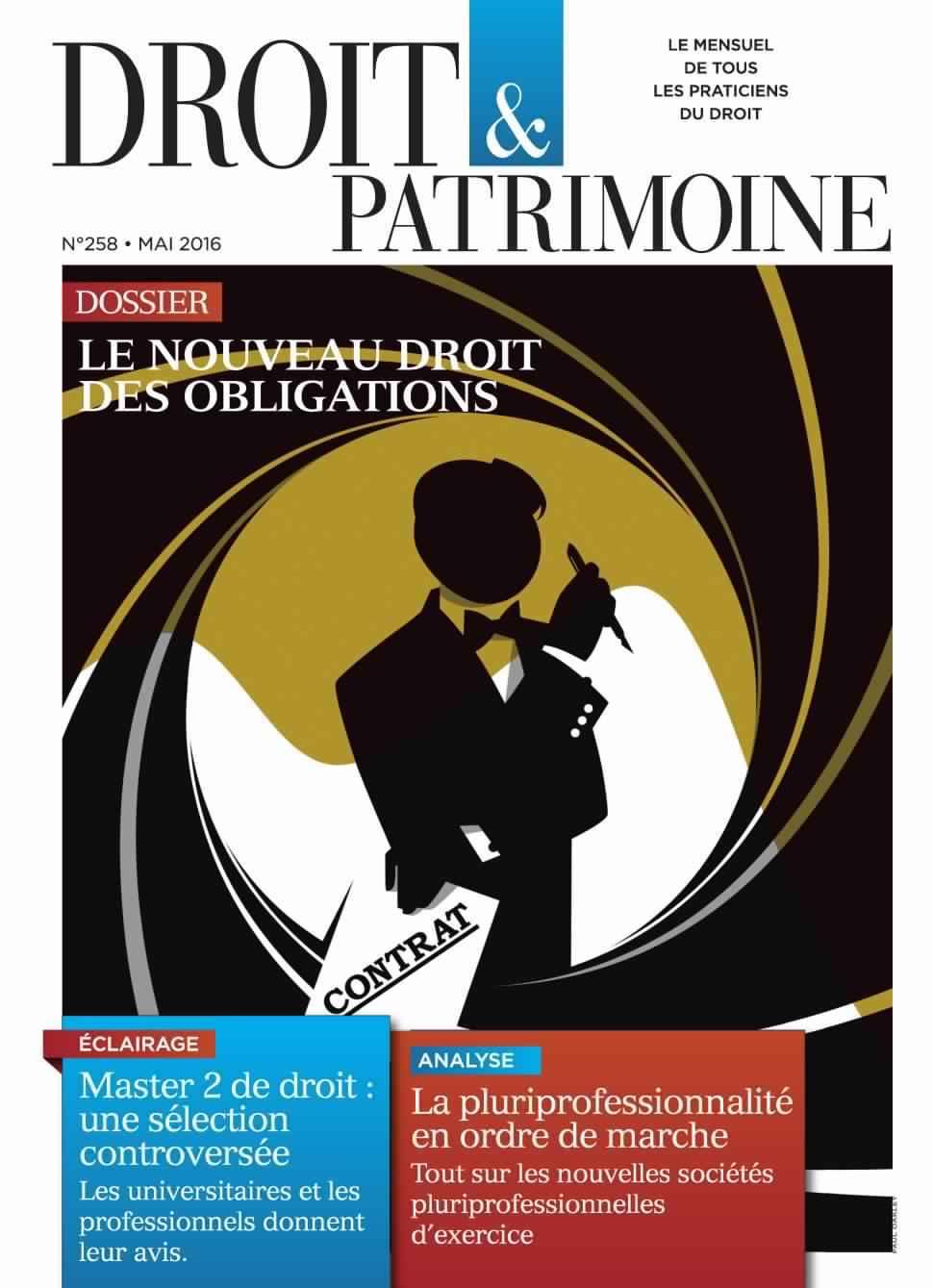 Droit & Patrimoine 258 - Mai 2016