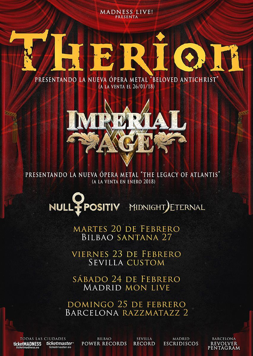 Therion Tour 2018 - Beloved Antichrist