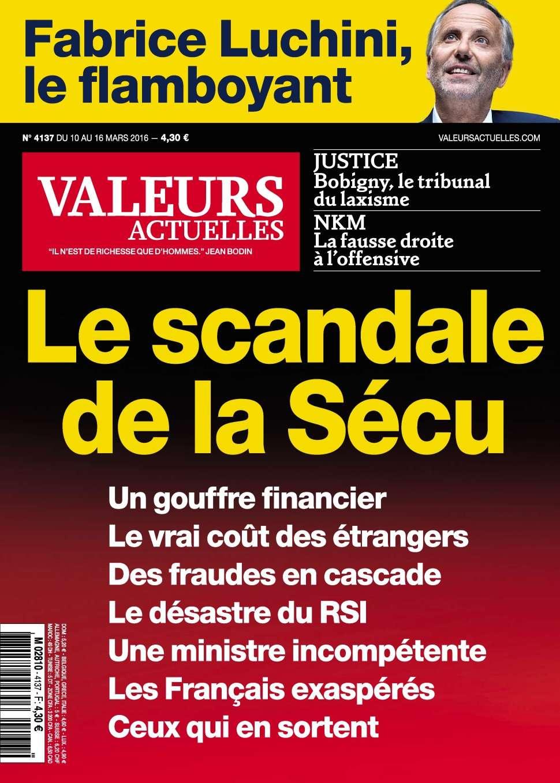 Valeurs Actuelles 4137 - 10 au 16 Mars 2016