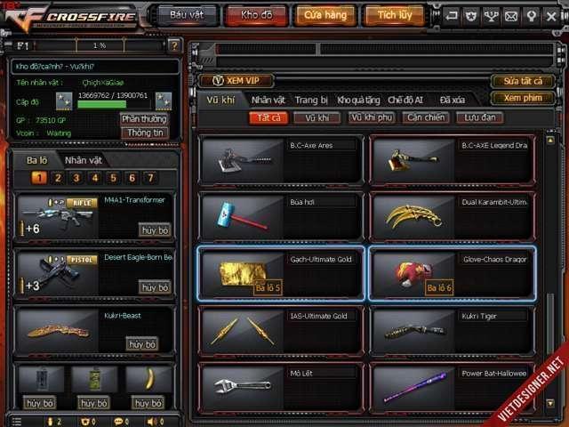 shop nick cf bán acc đột kích giá rẻ mã số 2395