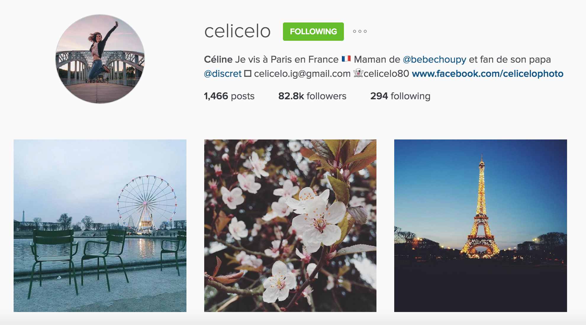 instagram cariboo paris account celicelo céline sunset