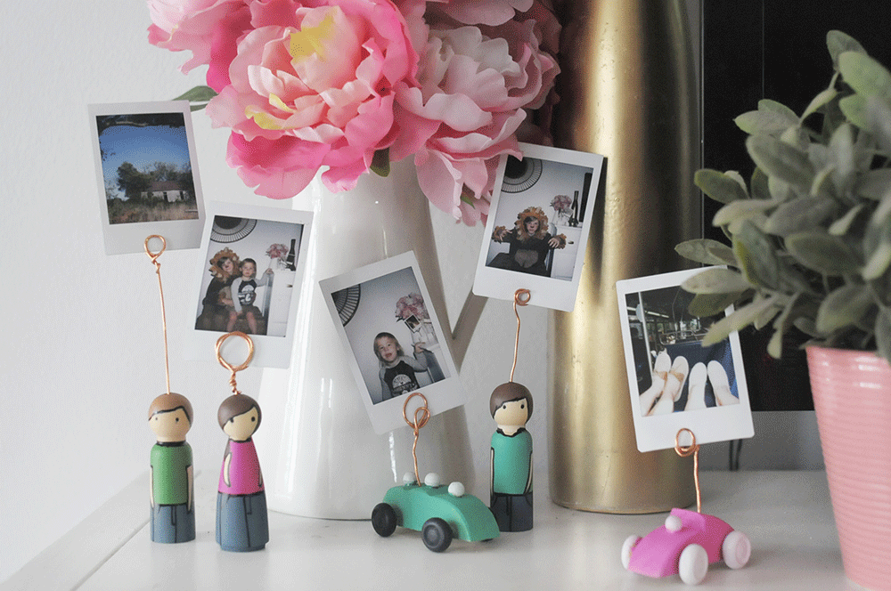 DIY Personalized Peg Doll Instax Mini Displays