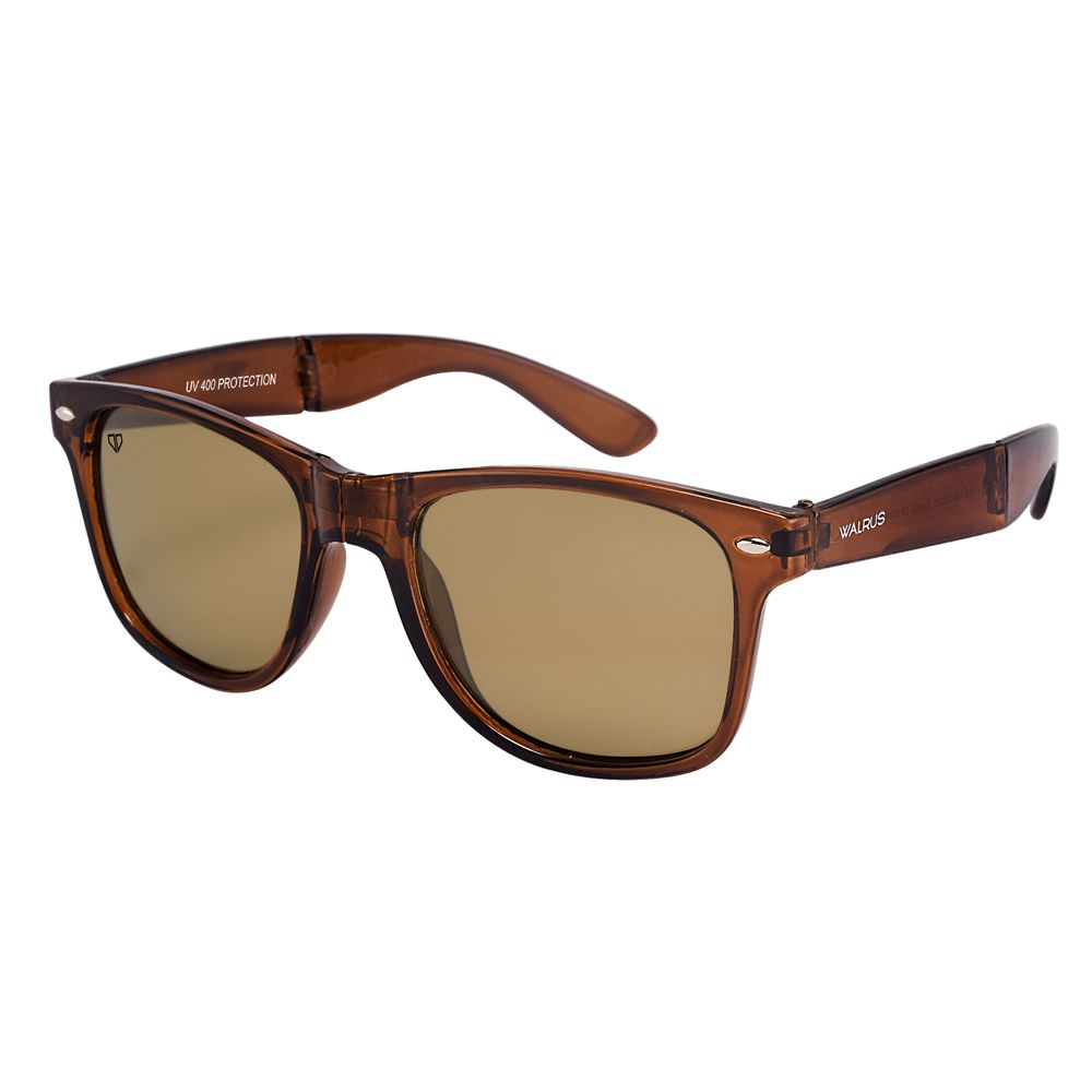 Walrus Flex Brown Color Unisex Wayfarer Sunglass - WS-FLX-090909