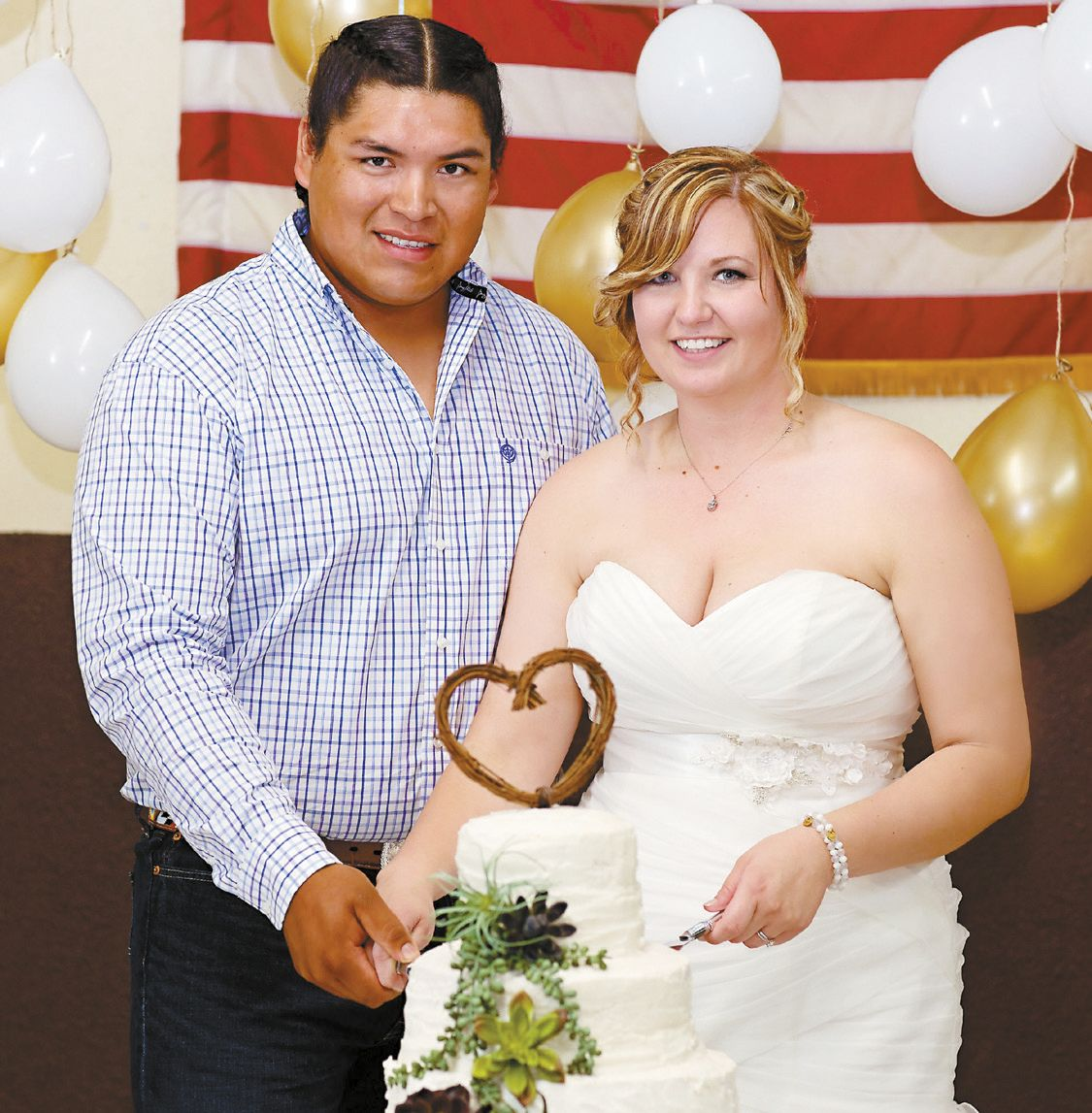 Towell & Candy Exchange Vows