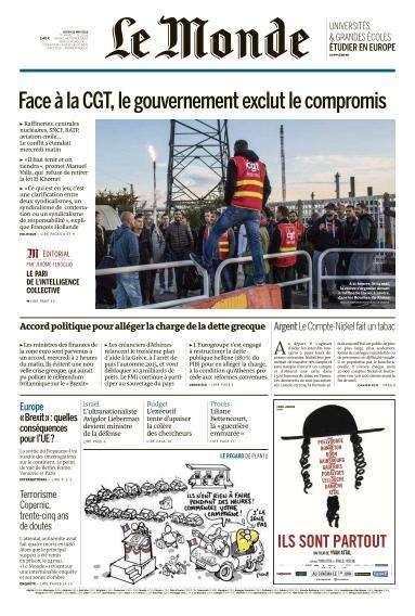 Le Monde du Jeudi 26 Mai 2016