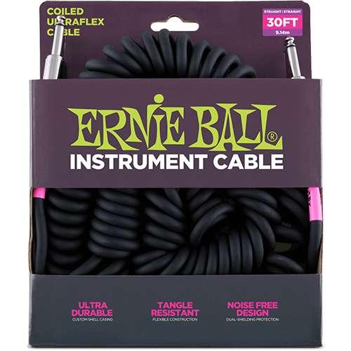 Ernie Ball - Cable para Instrumento, Color: Blanco Tama–o: 9.14 mts. Recto/Ang. Mod.6044