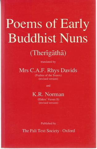 Poems of Early Buddhist Nuns: Therigatha