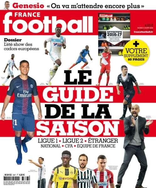 France Football 3667 - 9 Août 2016