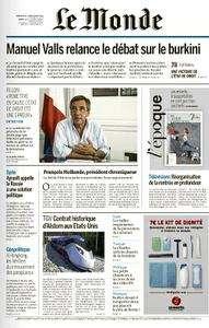 Le Monde du Dimanche 28 et Lundi 29 Août 2016