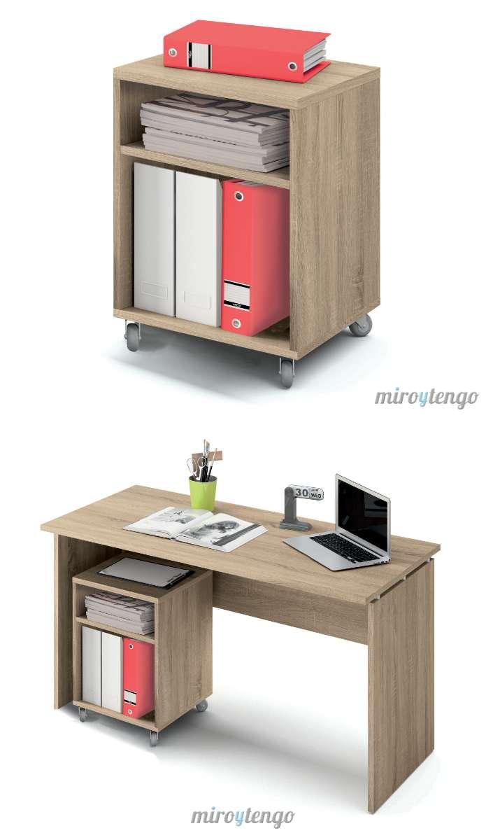 Buck cajonera color cambrian con ruedas y 2 cajones de mesa escritorio despacho ebay - Mesa escritorio con ruedas ...