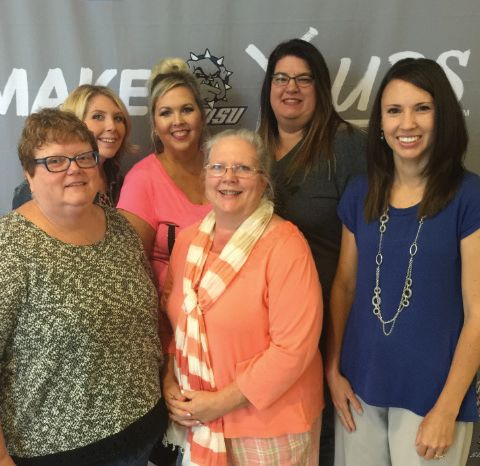 LEARNING...Cheyenne High School Teachers attending the SWOSU Conference were, front: Mrs. Dianna Butler, Ms. Melisa Moorman, Mrs. Marci Kitchens and back: Hannah Fox, Mrs. Nila Land and Mrs. Darla Pennington. (Photo provided)