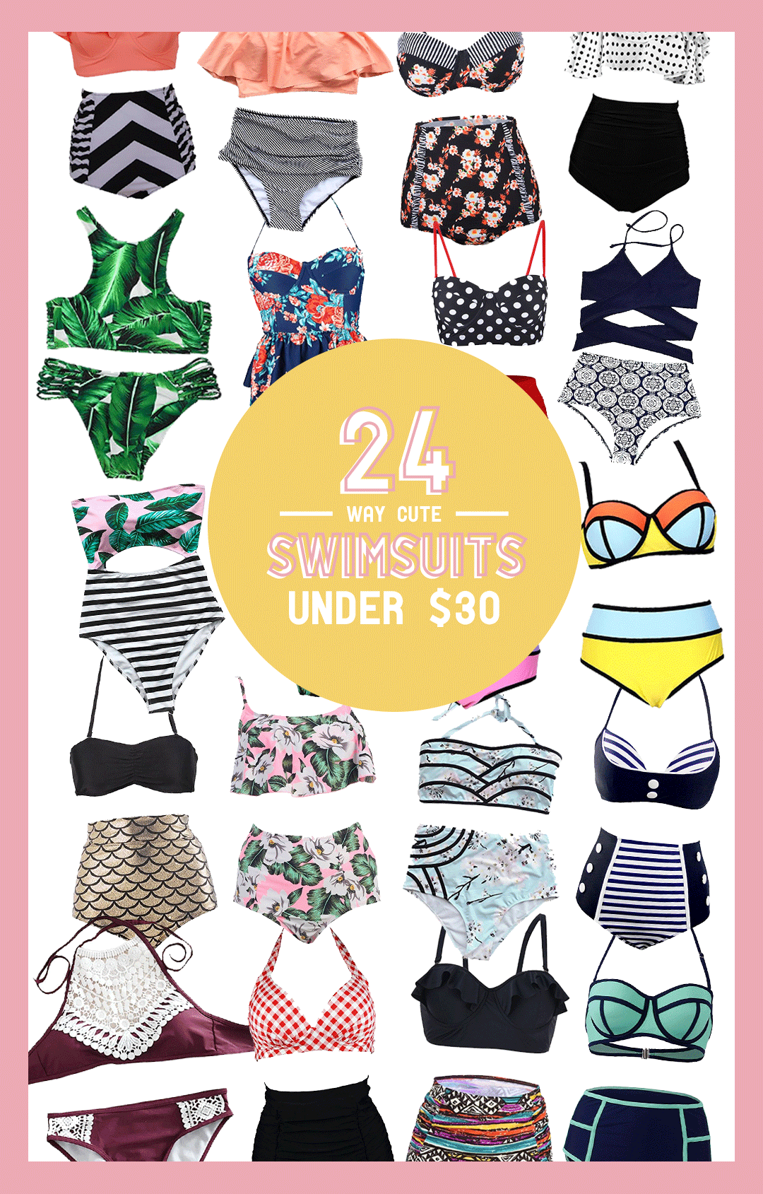 24 Super Cute Swimsuits Under $30