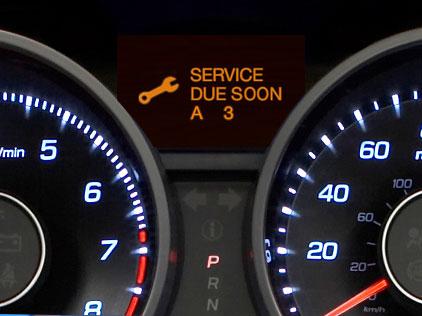 Acura Maintenance Minder Oil Change Service