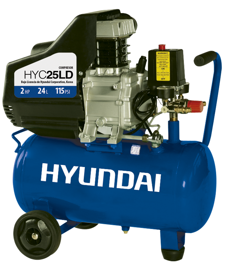Compresor De Aire Hyundai Electrico 2hp 25 Litros 110v