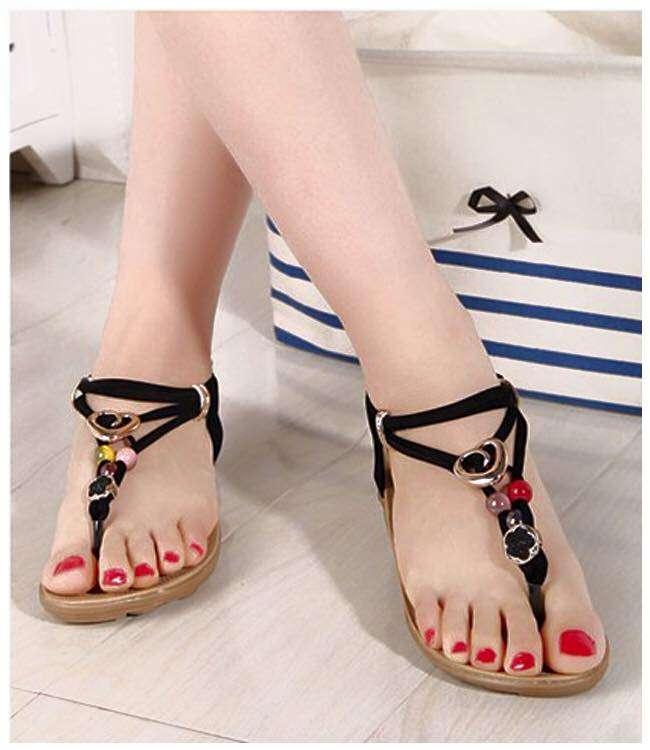 Giày sandal nữ đính hạt siêu xinh Size 36 đến 39