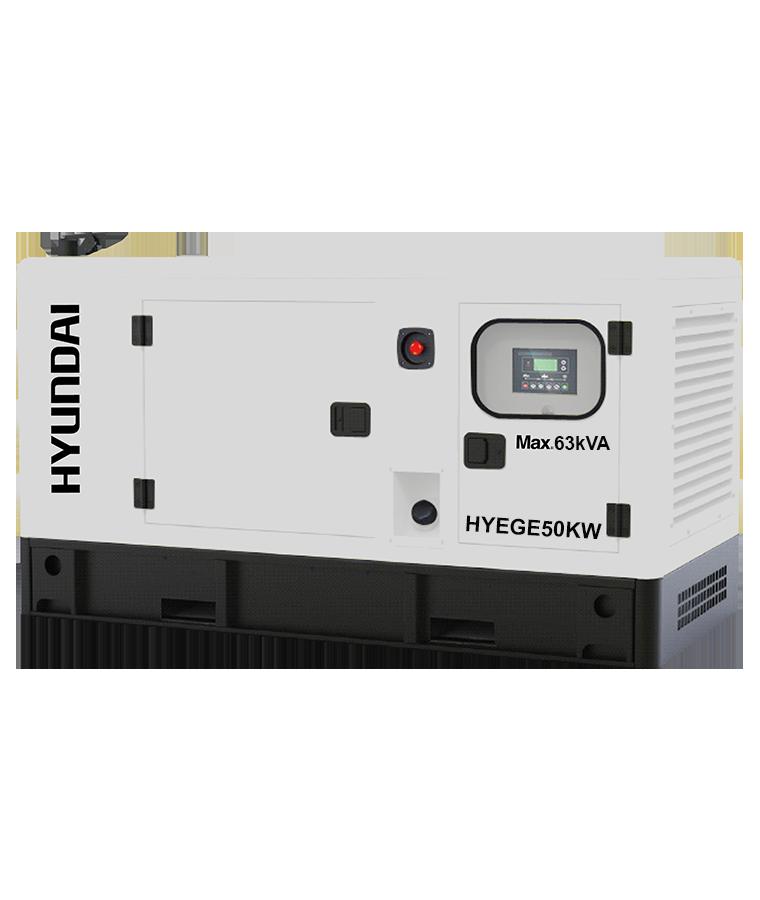 Generador Hyundai 50KW con Motor a Diesel 80 HP 220/440V