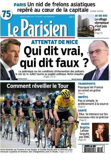 Le Parisien + Journal de paris du Mardi 26 Juillet 2016