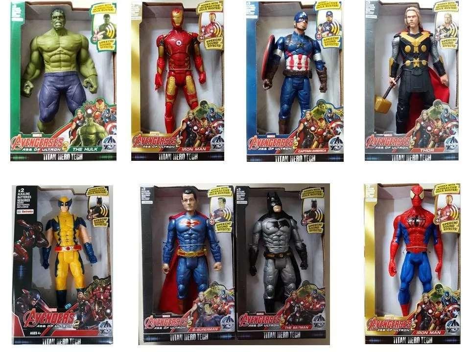 Vingadores Boneco Marvel The Avengers 30 Cm Unidades Hulk Capitão América Thor Homem Aranha Homem de Ferro Super Homem Batman DC Descrição