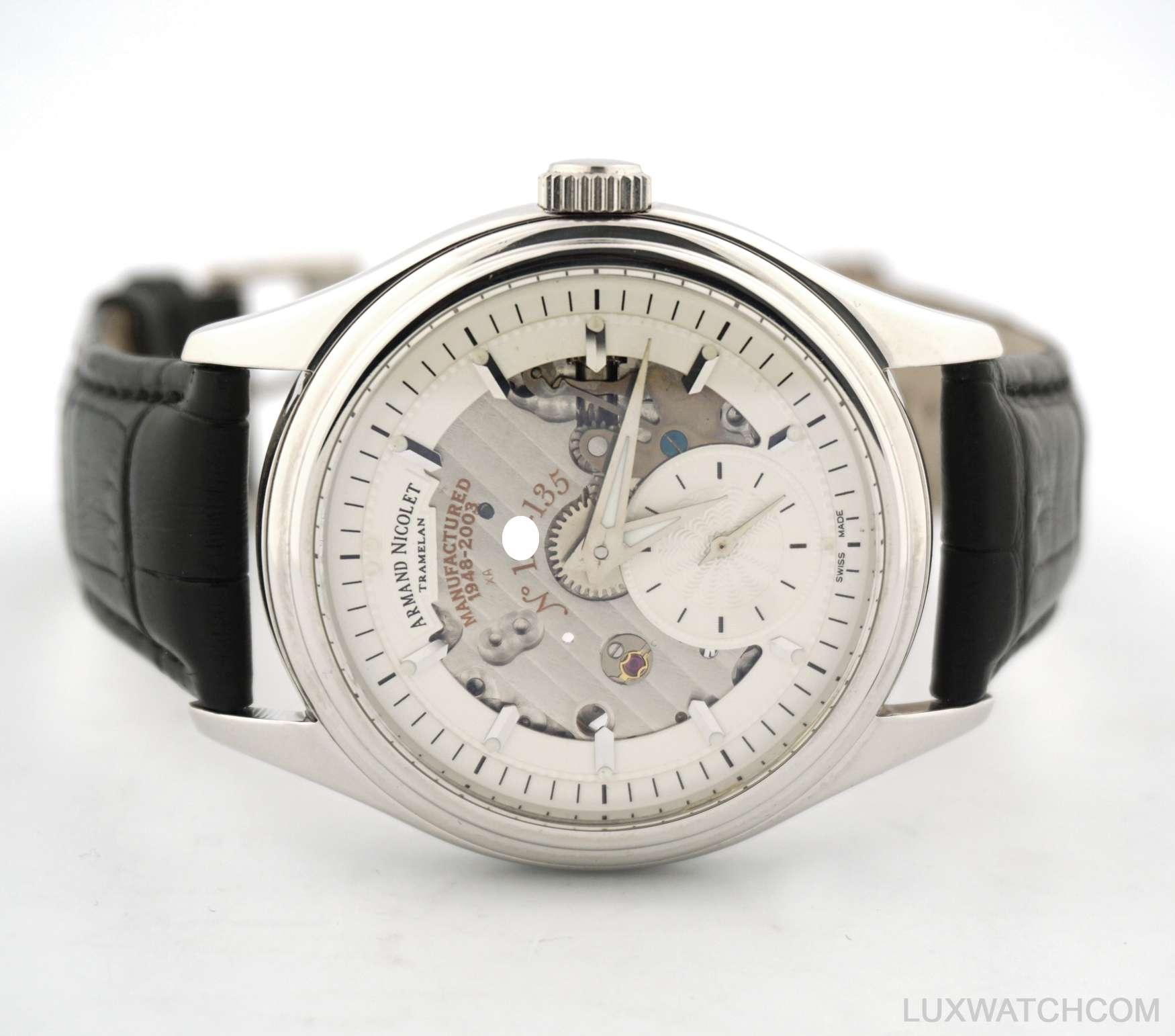 Armand nicolet tramelan 18k white gold 7140 mens watch ebay for Armand nicolet watches