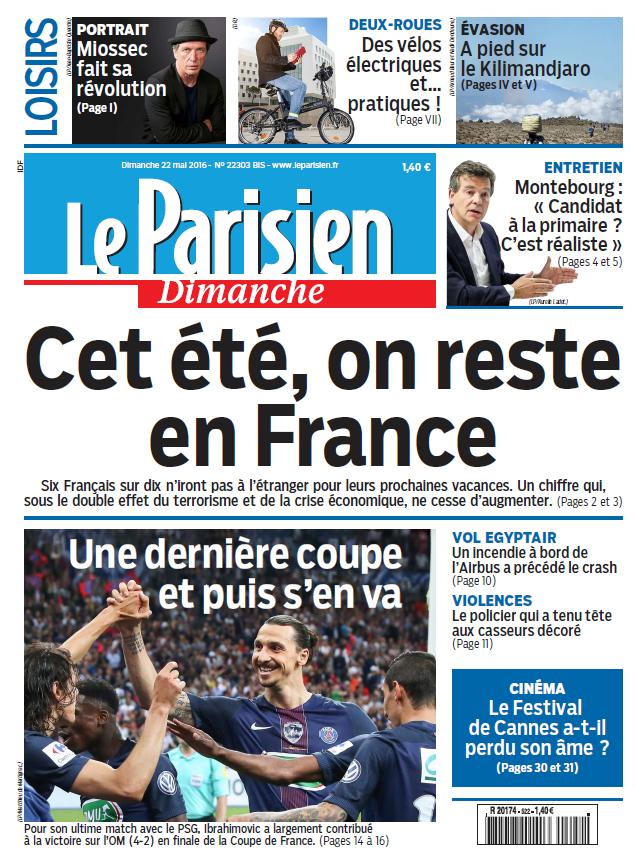 Le Parisien + Votre guide du Dimanche 22 Mai 2016