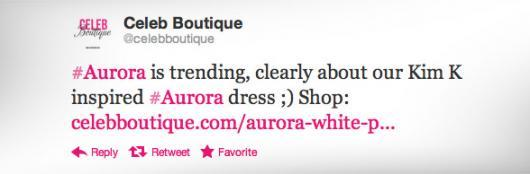#Aurora is trending, clearly about our Kim K inspired #Aurora dress ;) Shop