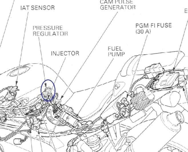 sp1 fuel pressure regulator location    images