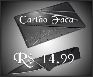 Cartão Faca por apenas R$ 14.99