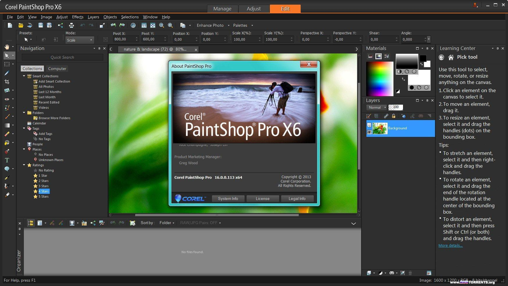 Corel PaintShop Pro X6 16.0.0.113 (ML/RUS)