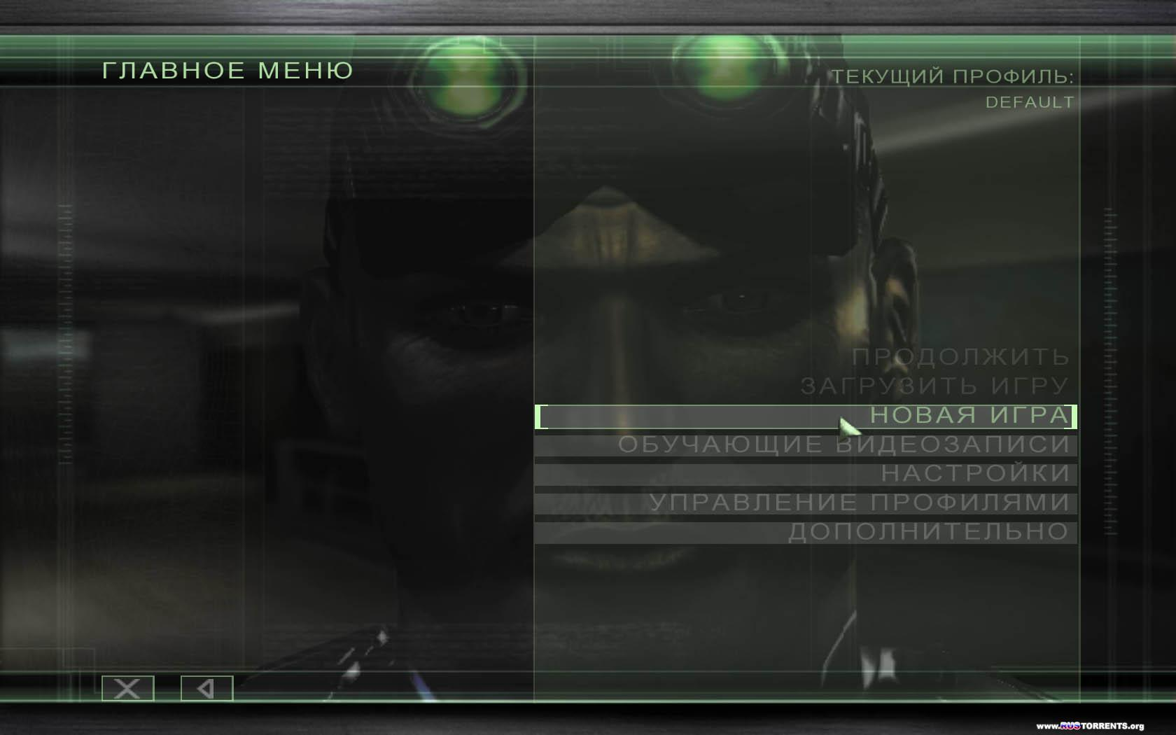 Tom Clancy's Splinter Cell: Chaos Theory | Repack от R.G. REVOLUTiON